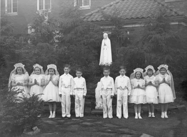 First communion historical photo, cropped