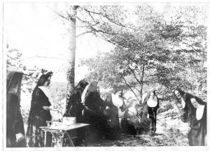 OLA. picnic. roasting marshmallows. habits. 1960s