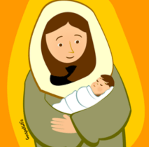 BABY JESUS AND MARY CLIPART 12px Image 4